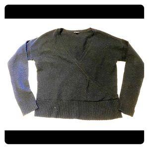 Express Faux-Wrap Sweater
